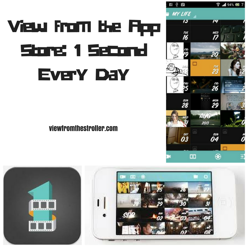 View from the App Store: 1 Second Every Day